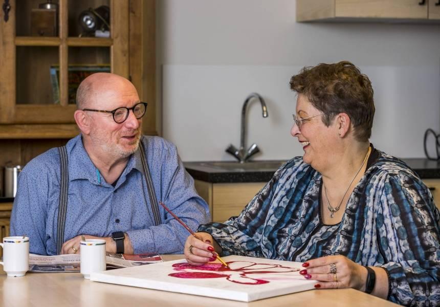 Marie-Louise en Wim Meijer, cliënt en naaste